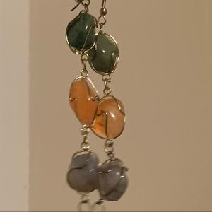 Crystal healing earrings
